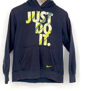 Nike just do it green black hoodie sweat shirt